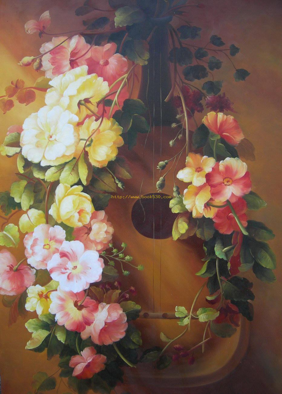 Beautiful oil paintings of flowers